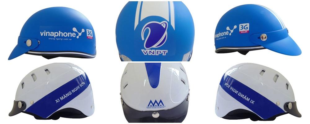 In logo lên mũ bảo hiểm theo yêu cầu hình ảnh 1